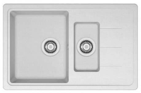 Кухонная мойка AquaLine Venezia 78-50 WH Белый, фото 2