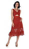 Платье красное кружевное женское