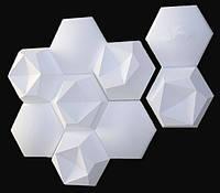 """Пластиковая форма для 3d панелей """"Шестигранник"""" 17*17 x5 (форма для 3д панелей из абс пластика)"""