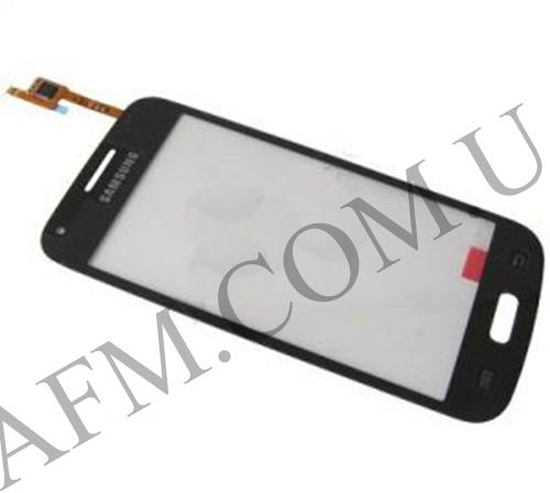 Сенсор (Touch screen) Samsung G350 Galaxy Core Plus Duos (с отверстием камеры) чёрный