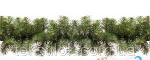Гілка гірлянда хвойна густа 270 см Новорічний декор .