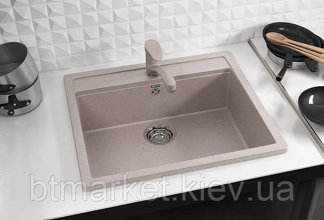 Кухонная мойка AquaLine Enna 56-50 BG Беж, фото 2