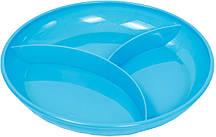 Тарелка секционная с прорезиненным дном «Курносики» 7057 (цвет уточняйте)