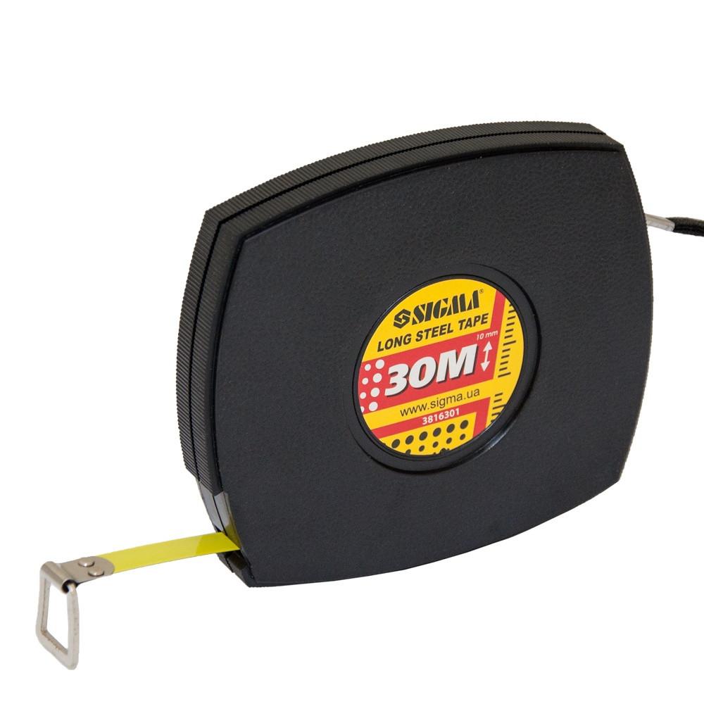 Рулетка измерительная стальная лента Sigma 30 м x 10 мм (3816301)