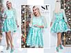 Платье вечернее короткое сетка+атлас+гипюр 42-44,44-46, фото 4