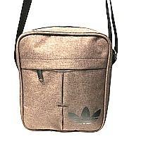 Спортивные барсетки из текстиля Adidas (коричневый)20*24см