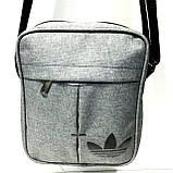 Спортивные барсетки из текстиля Adidas (коричневый)20*24см, фото 8