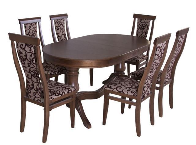 Стол Аркола комплекте со стульями Оскар (орех)