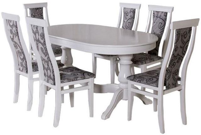 Стол Аркола комплекте со стульями Оскар (белый)