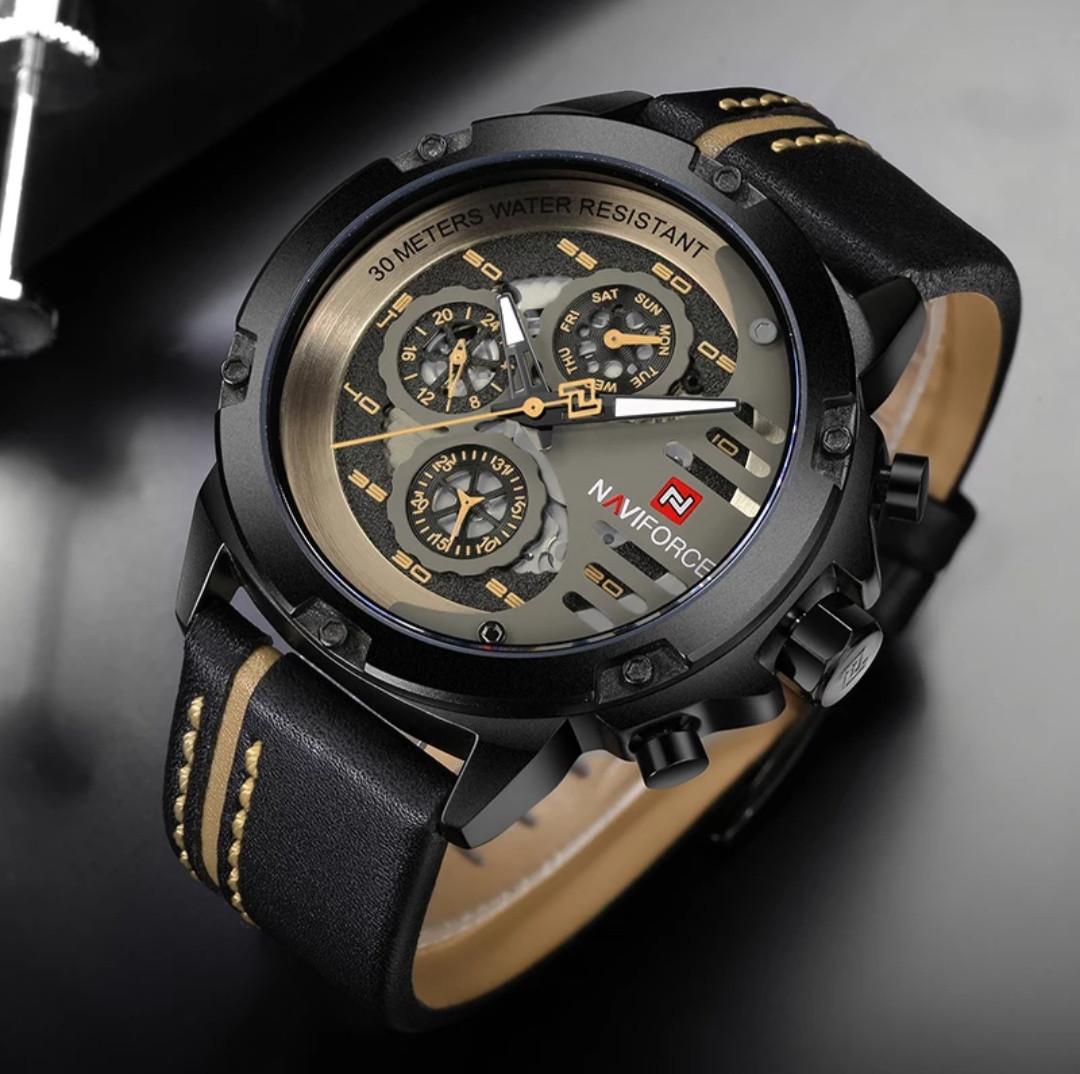 Часы NAVIFORCE Black Yellow