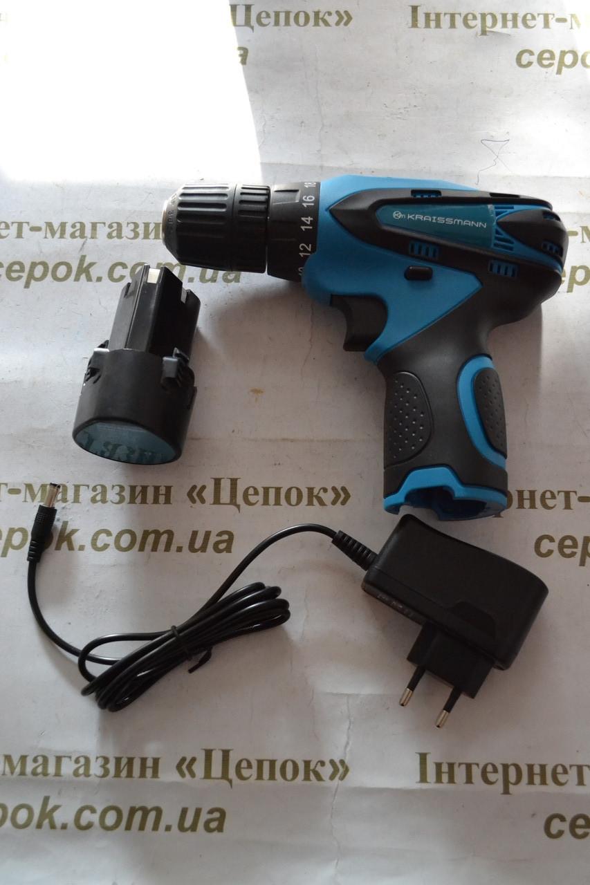Шуруповерт акумуляторний KRAISSMANN 1500 ABS 12/1 Li