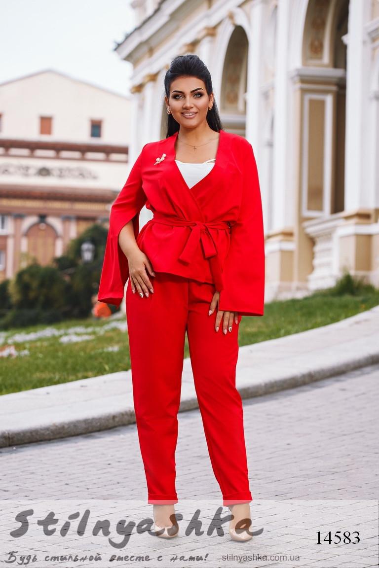 99aa4d8de95c Стильный красный костюм большого размера - Интернет-магазин