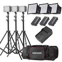 Комплект света NEEWER (3 x LED светильника со стойками и софтбоксами - сумка для переноски), фото 1