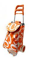 Тачка сумка с колесиками кравчучка 96см MH-1900 оранжевая