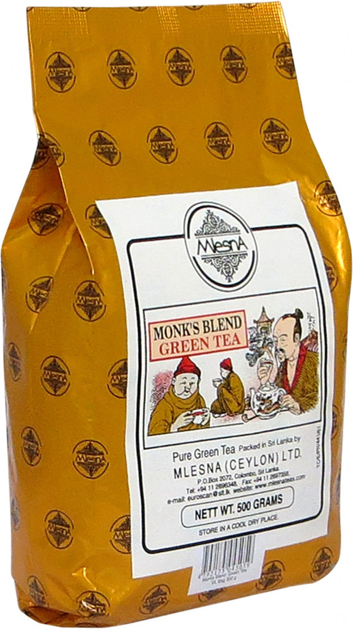 Зеленый чай Манкс Бленд, MONK'S BLEND GREEN TEA, Млесна (Mlesna) 500г.