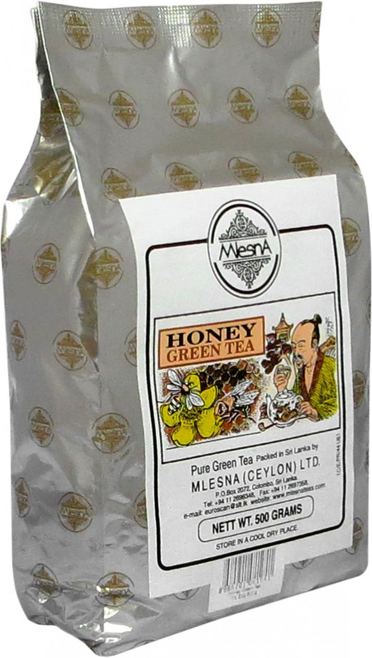 Зеленый чай Мёд, HONEY GREEN TEA, Млесна (Mlesna) 500г.