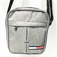 Спортивные барсетки из текстиля Tommy Hilfiger (серый)20*24см