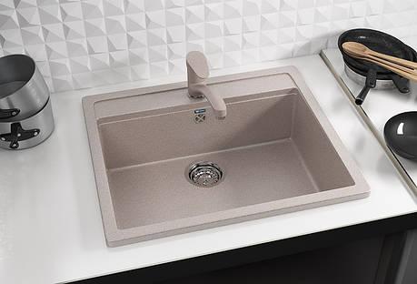 Кухонная мойка AquaLine Enna 56-50 SND Песочный, фото 2