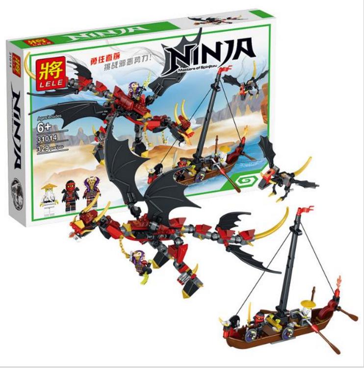 """Конструктор Lele Ninja 31014 """"Сражение злого дракона"""" 329 деталей"""
