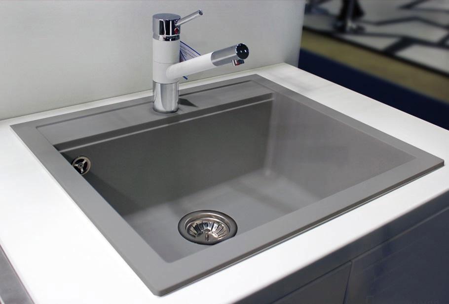 Кухонная мойка AquaLine Enna 56-50 GR Серый
