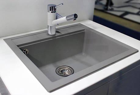 Кухонная мойка AquaLine Enna 56-50 GR Серый, фото 2