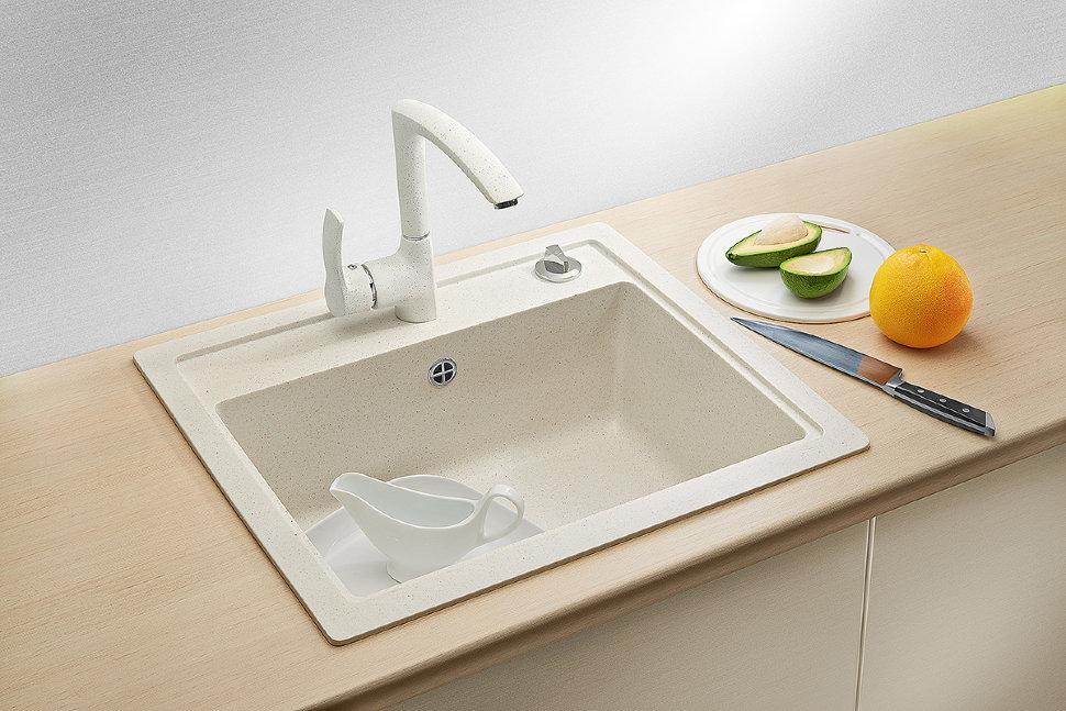Кухонная мойка AquaLine Enna 56-50 WH Белый