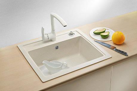Кухонная мойка AquaLine Enna 56-50 WH Белый, фото 2