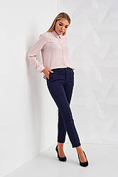 Укороченные брюки Мексика синего цвета 2417