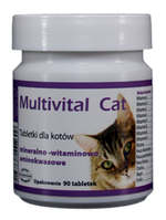 Dolfos Multivital Cat 90 табл. - Мультивитал Кэт - витаминно-минеральная добавка для кошек
