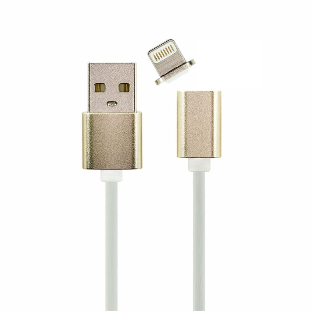Кабель Toto Lightning 8 pin - Магнитный коннектор для Apple iPhone 2.1А DM-M12 Gold