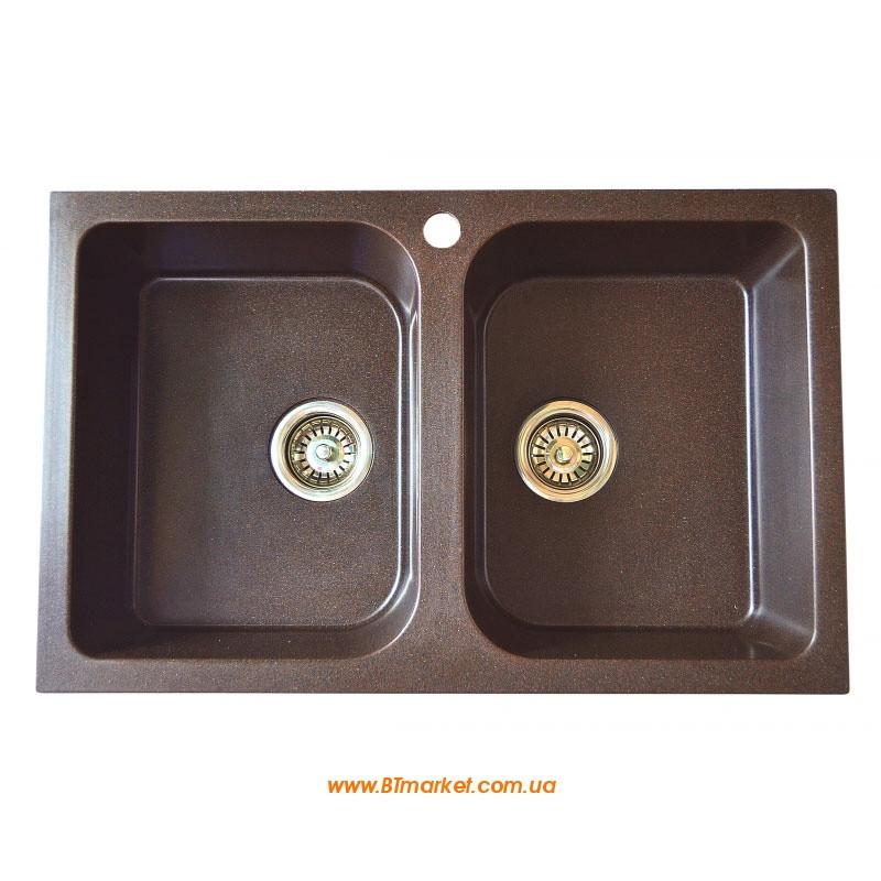 Кухонная мойка AquaLine Melfi79-50 BRN Коричневый