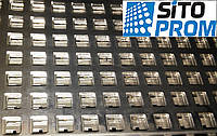 ЕСТЬ НА СКЛАДЕ! Перфорированный лист, черная сталь, квадратная ячейка PC Qg10-15/1/1000x2000. Код товара:02439