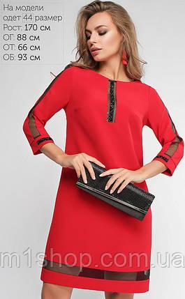 Женское платье с сеткой и стразами (Ингрид lp), фото 2
