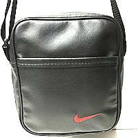 Барсетки кожвініл Nike (чорний+червоний)20*24см