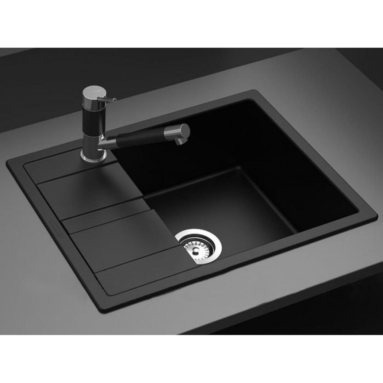 Кухонная мойка AquaLine Siena 65-50 ONX Черный