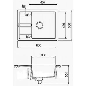 Кухонная мойка AquaLine Siena 65-50 SND Песочный, фото 2