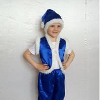 Новогодний костюм Гнома Эльфа синий, фото 1
