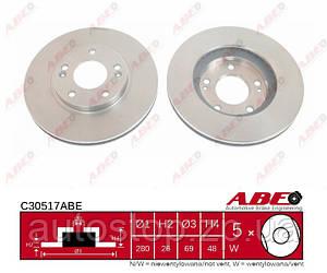 Диск тормозной передний Kia Ceed 2006--2012 ABE (Польша) C30517ABE