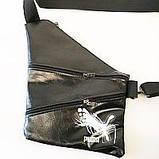 Барсетки на одно плечо кожвинил Polo (каштан)28*41см, фото 3