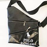 Барсетки на одно плечо кожвинил Polo (каштан)28*41см, фото 2
