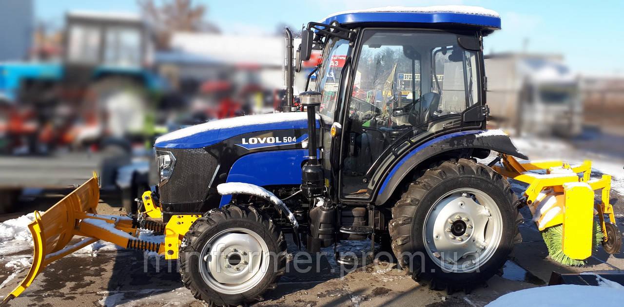 Трактор LOVOL 504 с отвалом и щеткой
