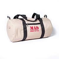 Женская спортивная сумка FitLadies бежевая для занятия фитнесом от MAD | born to win
