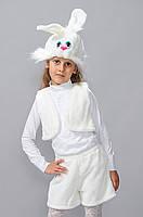Новогодний костюм для девочки Зайчик р.30-32, 34-36