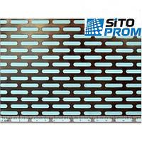 Перфорированный лист, черная сталь, продолговатая ячейка PC Lv4x20-16x25/1/1000x2000. Код товара: 02432