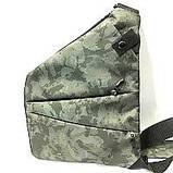 Барсетки на одно плечо текстиль (краснй принт)24*32см, фото 2