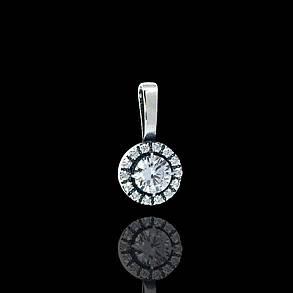 Срібна підвіска з фіанітами, 15 каменів, фото 2