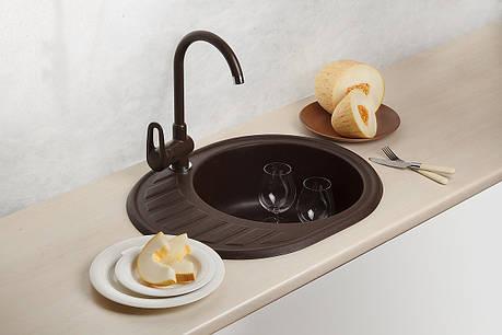 Кухонная мойка AquaLine Minorca 62-50 BRN Коричневый, фото 2