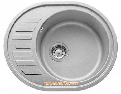 Кухонная мойка AquaLine Minorca 62-50 GR Серый, фото 2