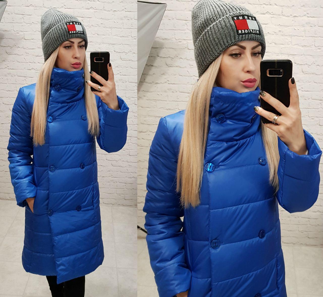Куртка пальто, модель 1002, цвет - электрик