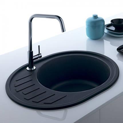 Кухонная мойка AquaLine Minorca 62-50 ONX Черный, фото 2